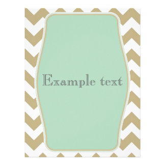 zigzag with Chevron of color khaki and target Letterhead