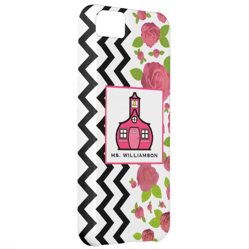 Zigzag y caja floral de la casamata del iPhone 5 d Funda iPhone 5C