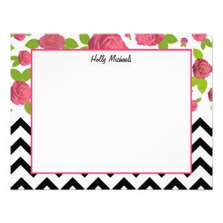 Zigzag y Notecards plano floral