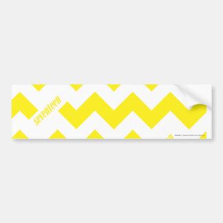 ZigZag Yellow Bumper Sticker