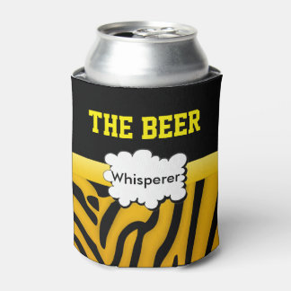 Zigzag Zebra stripes animal print Can Cooler