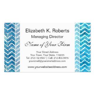 Zigzags acuáticos de Chevron del azul y de la Tarjetas De Visita