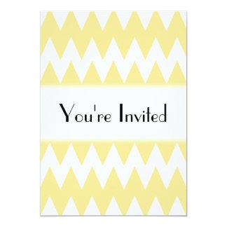 """Zigzags amarillos blancos y en colores pastel invitación 5"""" x 7"""""""