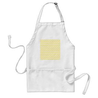 Zigzags amarillos claros y blancos delantales