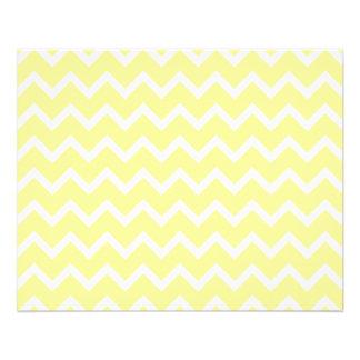 """Zigzags amarillos claros y blancos folleto 4.5"""" x 5.6"""""""