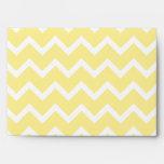 Zigzags amarillos claros y blancos sobres