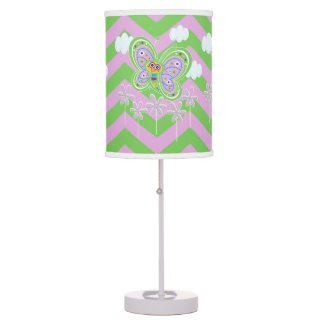 Zigzags and Butterfles Table Lamp