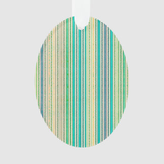 Zigzags And Stripes Of Blue And Green Shades