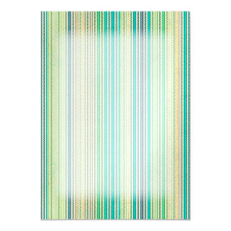 Zigzags And Stripes Of Blue And Green Shades Card