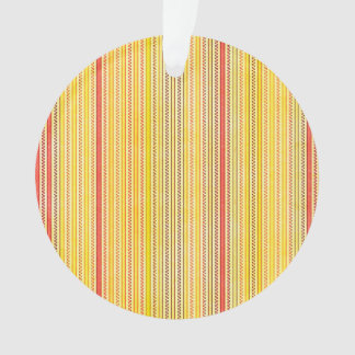 Zigzags And Stripes Orange And Yellow Shades