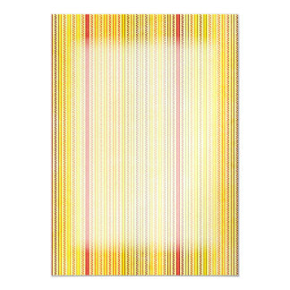 Zigzags And Stripes Orange And Yellow Shades Card