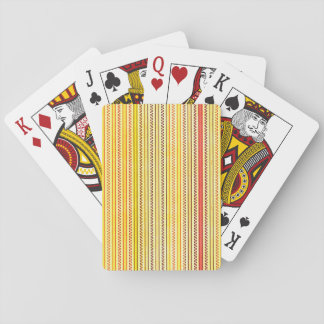 Zigzags And Stripes Orange And Yellow Shades Card Deck