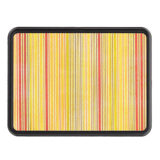 Zigzags And Stripes Orange And Yellow Shades Hitch Cover