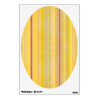 Zigzags And Stripes Orange And Yellow Shades Wall Decal