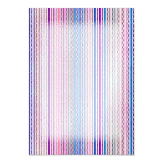Zigzags And Stripes Purple And Blue Shades Card