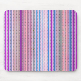 Zigzags And Stripes Purple And Blue Shades Mouse Pad