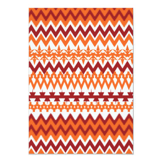 Zigzags aztecas de Chevron del modelo tribal Invitacion Personal