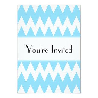 """Zigzags azules blancos y en colores pastel invitación 5"""" x 7"""""""
