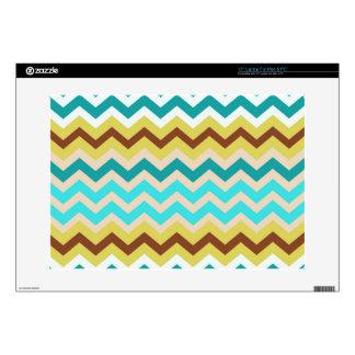 Zigzags azules y amarillos suaves portátil skins