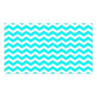 Zigzags blancos tarjetas de visita