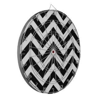 Zigzags blancos y negros tabla dardos