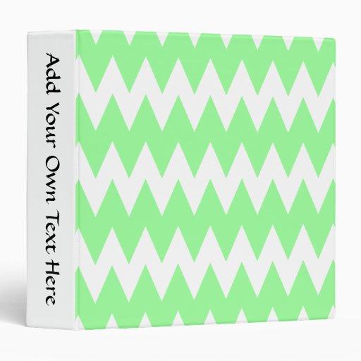 """Zigzags blancos y verdes carpeta 1 1/2"""""""
