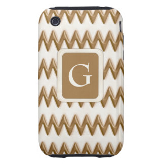Zigzags - chocolate con leche y chocolate blanco carcasa though para iPhone 3
