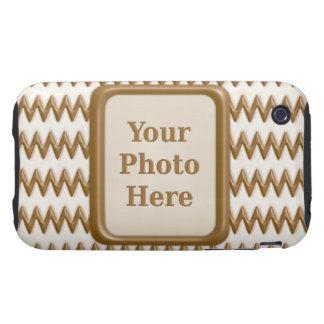 Zigzags - chocolate con leche y chocolate blanco tough iPhone 3 carcasa