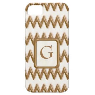 Zigzags - chocolate con leche y chocolate blanco iPhone 5 cárcasas