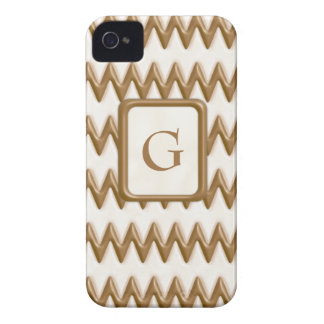 Zigzags - chocolate con leche y chocolate blanco iPhone 4 protector