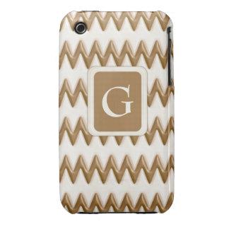 Zigzags - chocolate con leche y chocolate blanco funda para iPhone 3