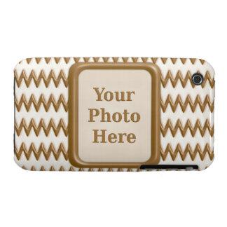 Zigzags - chocolate con leche y chocolate blanco funda para iPhone 3 de Case-Mate