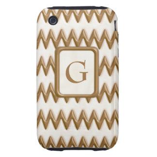 Zigzags - chocolate con leche y chocolate blanco funda resistente para iPhone 3