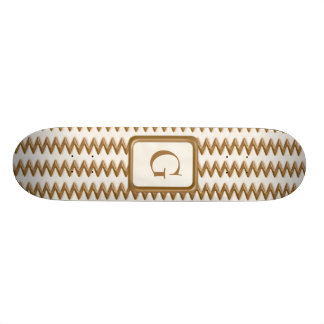 Zigzags - chocolate con leche y chocolate blanco patin personalizado