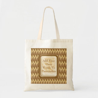 Zigzags - Chocolate Marshmallow Tote Bag