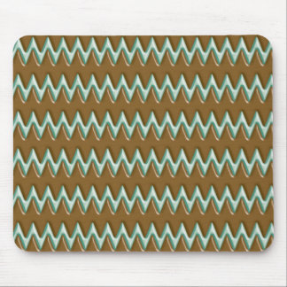 Zigzags - Chocolate Mint Mouse Pad