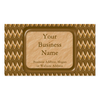Zigzags - Chocolate Peanut Butter Double-Sided Standard Business Cards (Pack Of 100)