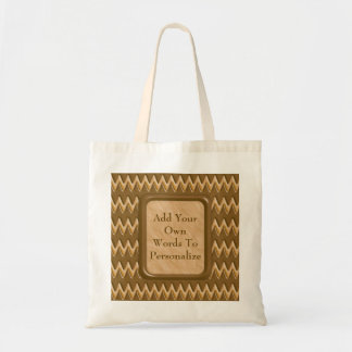 Zigzags - Chocolate Peanut Butter Tote Bag