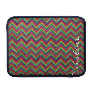 zigzags coloreados fluorescentes personalizados fundas macbook air