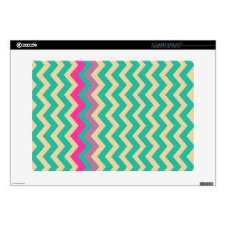 Zigzags confinados mezclados coloridos calcomanía para 38,1cm portátil