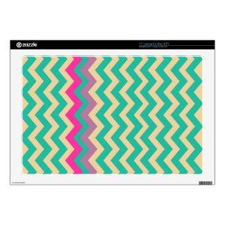 Zigzags confinados mezclados coloridos skins para 43,2cm portátil