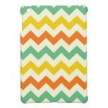 Zigzags de Chevron del amarillo anaranjado de la v iPad Mini Protector