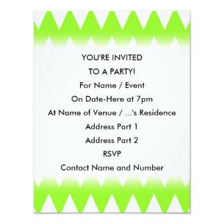 """Zigzags de la verde lima invitación 4.25"""" x 5.5"""""""