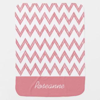 Zigzags de moda de Chevron del rosa del lápiz con Mantas De Bebé