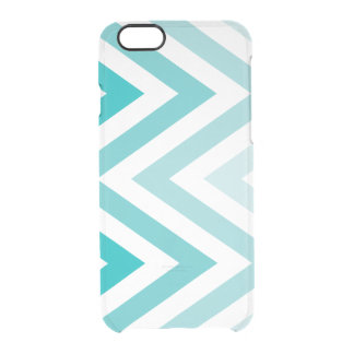 Zigzags de Ombre de la aguamarina Funda Clearly™ Deflector Para iPhone 6 De Uncommon