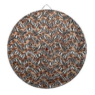 Zigzags del estampado de animales tabla dardos