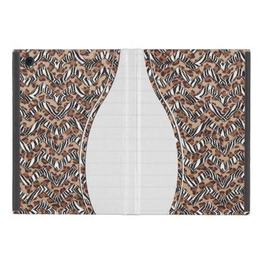 Zigzags del estampado de animales iPad mini cárcasas