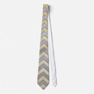 Zigzags del oro y de la plata corbata