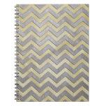 Zigzags del oro y de la plata libros de apuntes con espiral