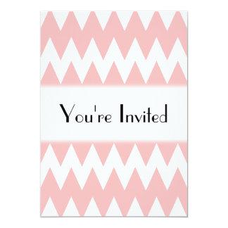 """Zigzags del rosa blanco y en colores pastel invitación 5"""" x 7"""""""